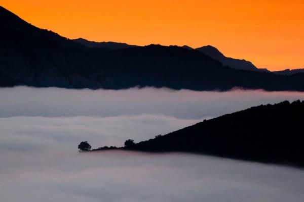 Mar de Nubes sobre el Huerna.